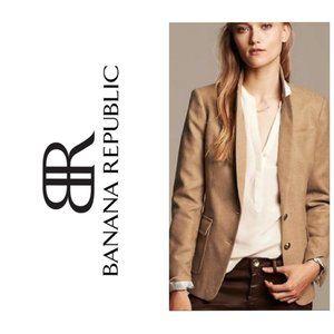 BANANA REPUBLIC Camel Elbow Patch Cotton Blazer